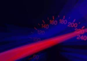 high speedometer, car accident